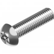 Винт антивандальный с полукруглой головкой   Нерж. сталь (А2 / А4)